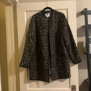Leopard Faux Leather Old Navy Coat